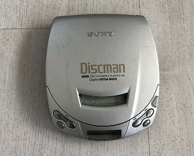 Sony Discman Walkman D-193 Portable Cd Player