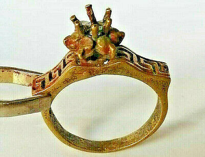 Gorgeous Medieval Ancient Vintage Roman Ring Bronze artifact