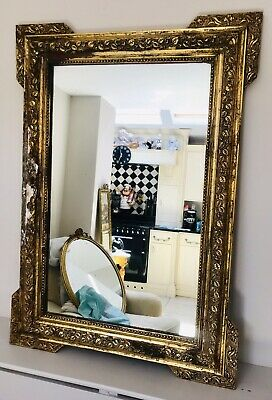 LOVELY LARGE ANTIQUE 19th CENTURY GILTWOOD MIRROR C1900