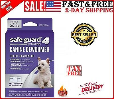 8in1 Safe-Guard Canine Dewormer for Dog Puppy Tapeworm Worms Medicine Safeguard