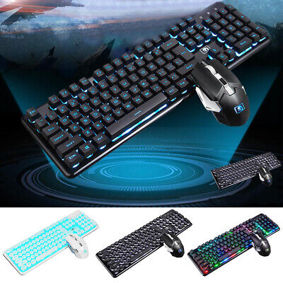 e90483bcf0c Wireless Keyboard and 2400DPI Mouse Combo Computer Desktop PC Laptop  Cordless