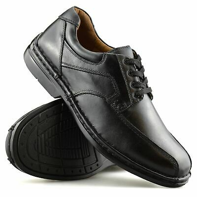 Mens Hush Puppies Leather Wide Fit Smart Casual Lace Up Work Office Shoes Size