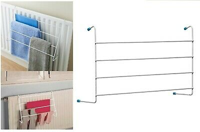 4 Bar Metal Radiator Towel/Cloth Holder Airer Dryer Drying Rack Rail By Sabichi