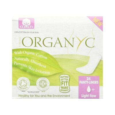 💚 6 x Organyc Cotton Panty-liners Light Flow Individually wrapped Box of 24