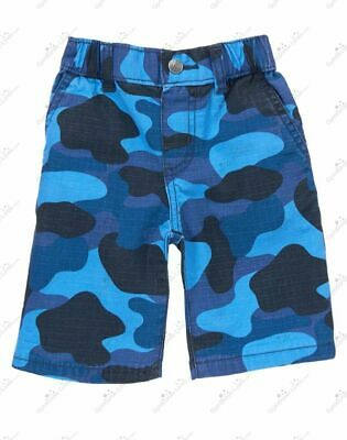 GYMBOREE Boys Toddler Camo Ripstop Shorts Blue SIZES 3T  4T  5T  NWT! SEALED!