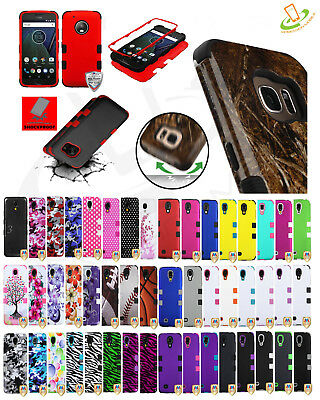 For Samsung Galaxy A10E TUFF HYBRID Armor Rubber Rugged Case Shockproof Cover