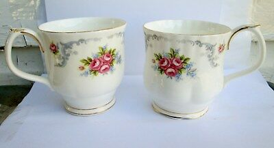 2 ROYAL ALBERT - Tranquillity - Footed Coffee Mugs 2 DIFFERENT STYLES