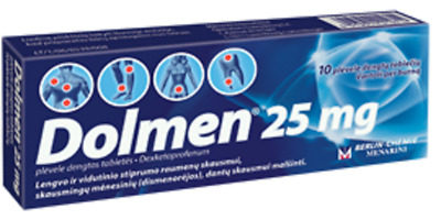 DOLMEN 25MG 10 sachets Is Used for Mild to Moderate Pain