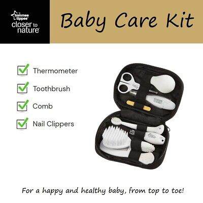 Tommee Tippee Baby Care Kit - Thermometer Toothbrush Comb Nail Clippers & More!