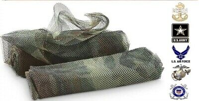 "(1) NEW Military Issue USGI Body Sniper Veil Woodland Camouflage Netting 96""x60"""