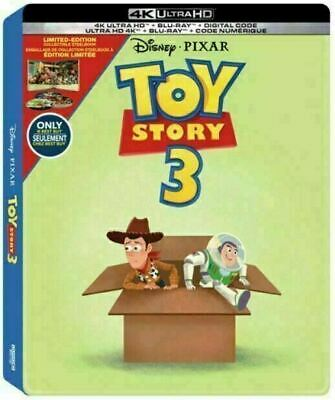 Toy Story 3 - Limited Edition Steelbook [4K Ultra HD + Blu-ray] New And Sealed!!
