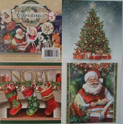"Hunkydory 25 mix 1st Sq Book of Toppers ""Christmas"" see pictures see description"