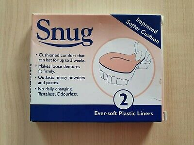 Snug Denture Cushions With Ever Soft Plastic Liner Improved Softer Cushions x2