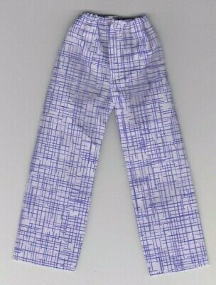Homemade Doll Clothes Purple Checked Print Pajamas fit Ken  KP6
