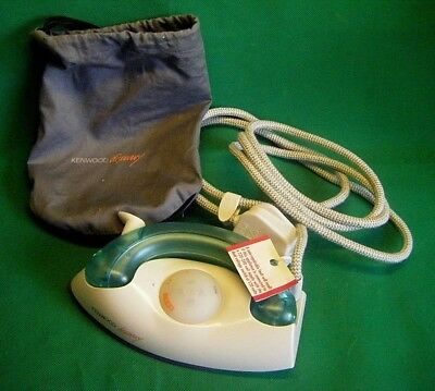KENWOOD ST40 Discovery TRAVEL STEAM IRON with POUCH vgc WORKING (E)