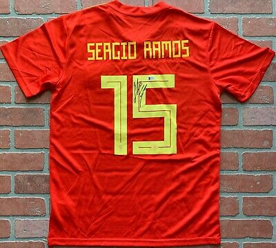 size 40 d28f3 5c268 SERGIO RAMOS AUTOGRAPHED signed authentic jersey Spain National Team Beckett
