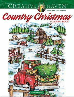 Creative Haven Country Christmas Coloring Book Creativ (Paperback-2019) r