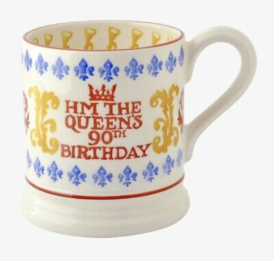 Emma Bridgewater Rare Queen's 90th Birthday 1/2 pint Mug Boxed