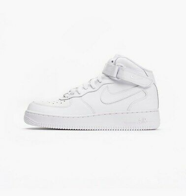 NIKE BIG KID'S Air Force 1 Mid (GS) Shoes NEW AUTHENTIC White 314195 113