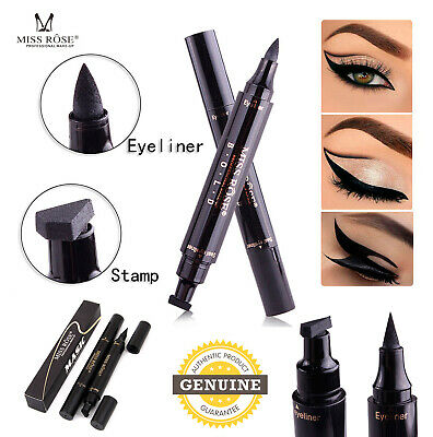 Black Winged Eyeliner Stamp Waterproof Miss Rose Eye Liner Pencil Liquid Pen UK