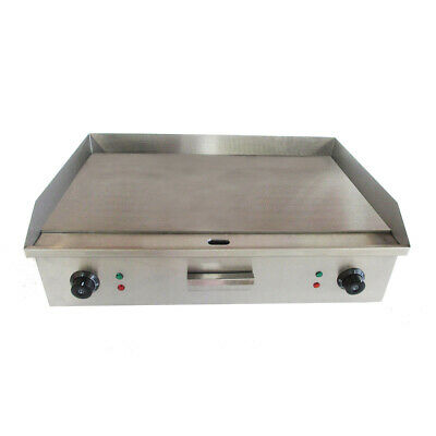 UK Commercial Electric Stainless Steel Large Flat Plate Grill Griddle 73 CM WS