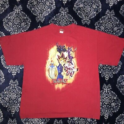 VTG 1996 Yugioh Youth Size XL T Shirt Red Trading Card Game
