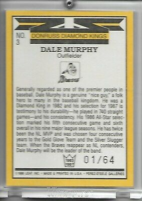 Dale Murphy 2004 Donruss Recollection Collection Diamond Kings Auto 1/64 1/1