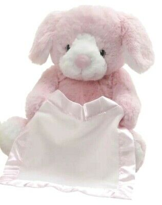 Spin Master Peek a Boo Puppy Animated Talking/Moving Plush Pink Baby Girl Toy
