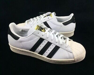 97139a9df61 NEW MENS ADIDAS SUPERSTAR 80s CLEAN SNEAKERS BZ0566-SHOES-SIZE 10,12 ...
