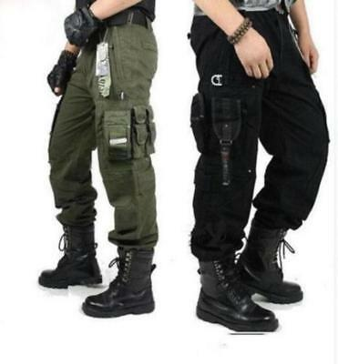Spring men's boys cargo millitary Tactical Pants Outdoor Camo workwear Trousers