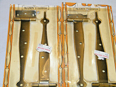 """4 Acorn Colonial 7"""" Cabinet Strap Offset Copper Rustic Cabinet Hardware Nos"""
