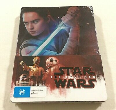 Star Wars Episode VIII The Last Jedi - Limited Edition Steelbook Blu-Ray | New