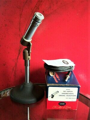 Vintage RARE 1950's Shure Brothers 245 ceramic microphone harp w accessories 777
