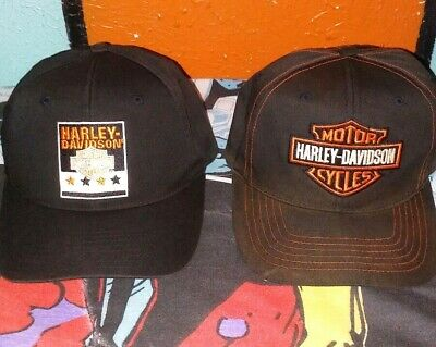 6fe7e6849 VINTAGE 90'S HARLEY Davidson Motorcycles Annco Snapback Lot of 2 Hats Caps