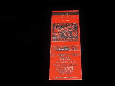 Vintage Matchbook, ST MARY'S VIEW MOTEL, US Highway 2 & Riverside Dr, Vacation