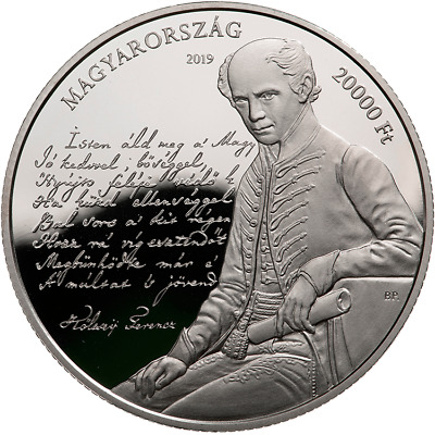 Hungary 2019 175th Anniv of composing music to the Himnusz, PP Ag UNC 20.000 Ft