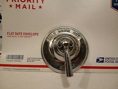 Vintage Antique? Stainless Bathtub Hot Warm Cold One Handle Faucet Pat. 2-5-1935
