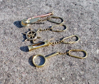 Vintage Style Nautical Brass Key chain Set Best For Nautical Gift