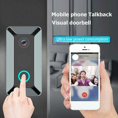 NEW V6 Smart WiFi Doorbell Camera Video Wireless Remote Door Bell Security Bell