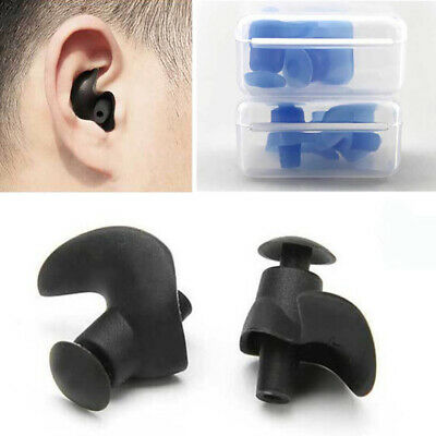 2Pair Soft Silicone Ear Plugs Anti Noise Hearing Protection Earplugs With Box GV