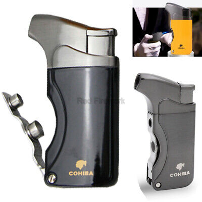COHIBA Metal Windproof Torch Jet Flame Cigarette Cigar Lighter Classic W/Punch