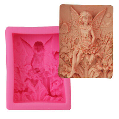Fairy Angel Silicone Fondant Chocolate Baking Mold Soap Candle Wax Resin Mould
