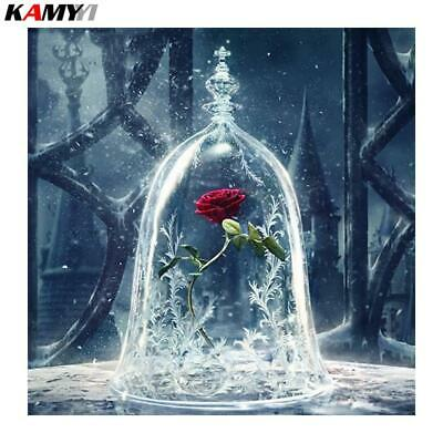 """5D DIY Diamond Embroidery Full Square /Round """"Red Rose Flower"""""""