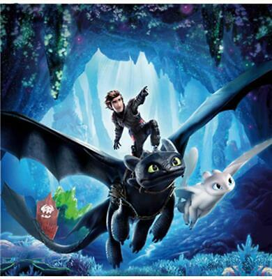 """5D diamond mosaic embroidery full Square/Round """"How to train your dragon"""""""
