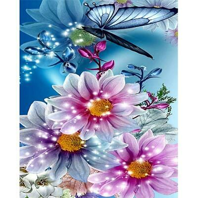 """5D Daimond Painting embroidery Full Square/Round """"Butterflies & Flowers"""""""