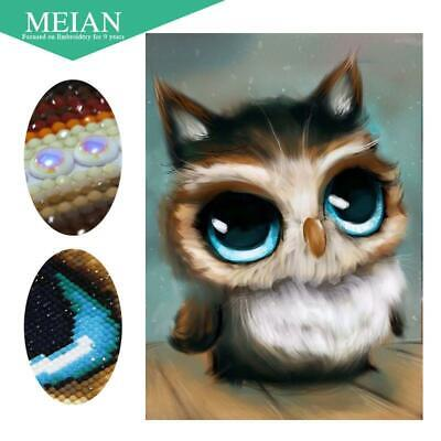 """5D Special Shaped Diamond Painting embroidery Full Round  """"Owl"""""""