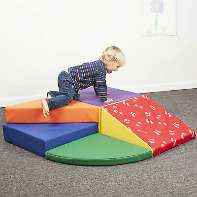 Large Baby Kids Soft Foam Block Indoor Active Play Toys Corner Climber 5pcs