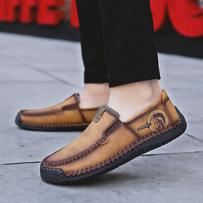 Men's Casual Shoes Breathable Leisure Handcrafted Slip-on Moccasin-gommino Lazy
