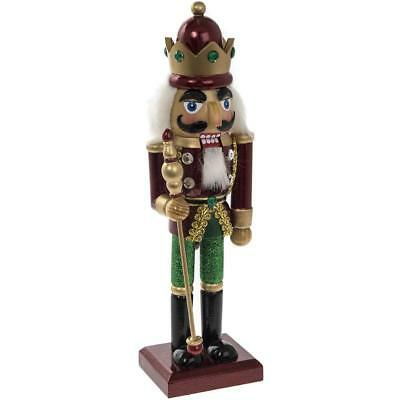 Victorian Style Wooden Christmas Nutcracker Soldier King Xmas Decoration