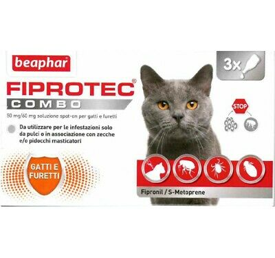 Fiprotec COMBO Antiparassitario Gatto [ 3 pipette Spot-On ]